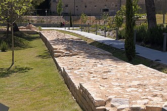 Roman wall foundations Nimes, Roman wall foundations.jpg