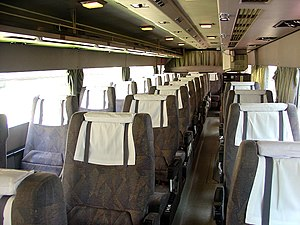 Coach (bus) - Interiors of coaches include many features not found in buses intended for shorter travel