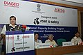 Nitin Gadkari addressing at the inauguration of the National programme on capacity building in traffic management with focus on the issue of Drunken-driving, in New Delhi. The Secretary.jpg