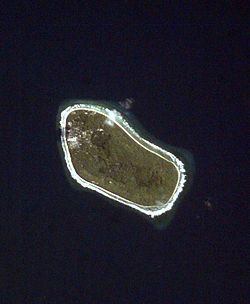 Satellite image of Niutao