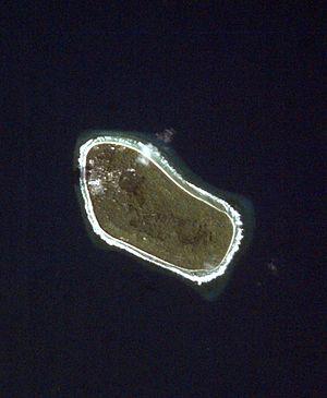 Niutao - Satellite image of Niutao