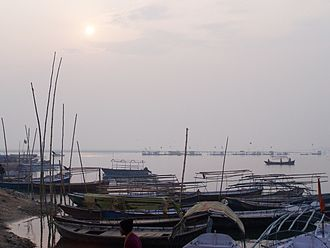 Triveni Sangam - The Triveni Sangam, the intersection of Yamuna River and Ganges River