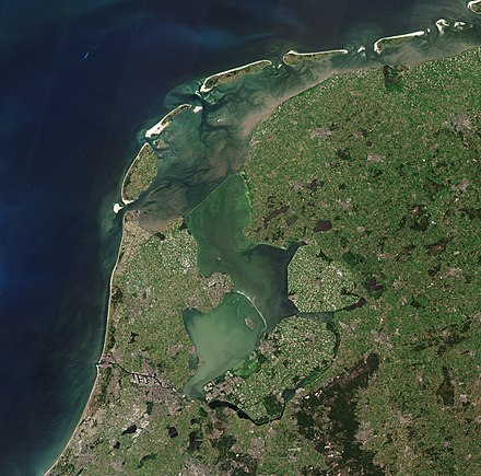 Satellite image of the North Holland, Friesland and Flevoland North Holland, Friesland and Flevoland by Sentinel-2.jpg