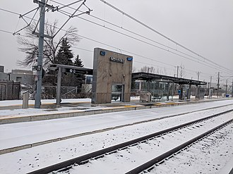 Northfield station (Waterloo) - Station completed, December 2018