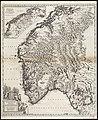 Norvegia regnum divisum in suos dioeceses Nidrosiensem, Bergensem, Opsloensem, et Stavangriensem et praefecturam Bahusiae quae et sont subdivisae in in caeteras partes, minores (8343563280).jpg