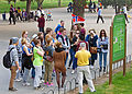Norwegian tourists listening to guide at Temple of Heaven, Beijing.jpg