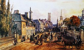 James McGill - From 1777, the house on the left was McGill's city home on Notre-Dame Street