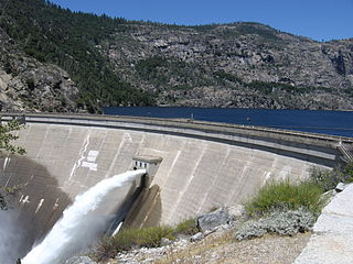 OShaughnessy Dam (California) OShaughnessy Dam, California, lower end of Hetch Hetchy Valley, Yosemite National Park, east of San Francisco, California