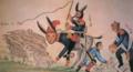 O'Higgins como un burro montado por San Martín.png