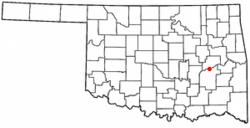 Location of Canadian, Oklahoma
