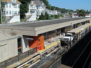 Oak Grove (MBTA station) - Platform rehabilitation work in 2013