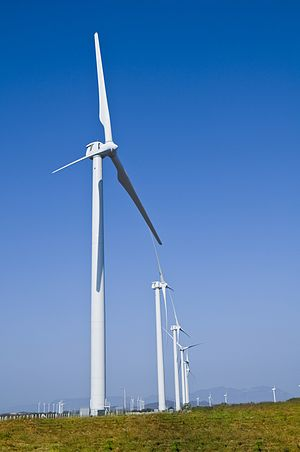 Clipper Windpower - Clipper WindPower turbines installed at the Oaxaca I Lamatalaventosa Wind Farm in Mexico.