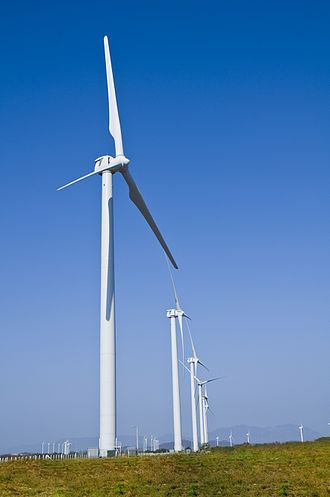 Renewable energy in Mexico - Example of Wind Farm in Oaxaca, Mexico.