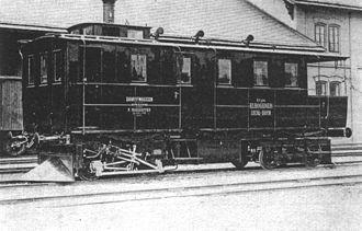 Steam railcar - A steam railcar built in 1880 by Ringhoffer of Prague