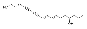 Simplified molecular-input line-entry system - Molecular structure of oenanthotoxin