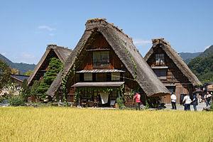 Shirakawa, Gifu (village) - Gasshō-zukuri - traditionally thatched houses in Shirakawa-go