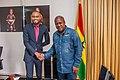 Ohimai Godwin Amaize with former President of Ghana, John Dramani Mahama.jpg