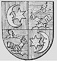 Okolicsányi négyelt címer, Okolicsányi János († 1736), váradi püspök volt.jpg