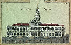Riga City Council - Riga Town Hall in the seventeenth century