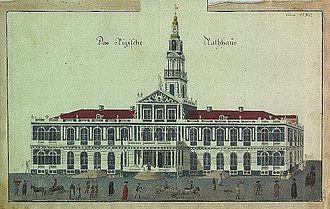 Riga City Council - Riga Town Hall in the seventeenth century