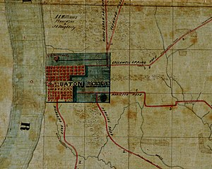 Baton Rouge, Louisiana - Map of Baton Rouge in 1863