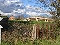 Old kissing gate and Saltney Ferry footbridge - geograph.org.uk - 1459354.jpg