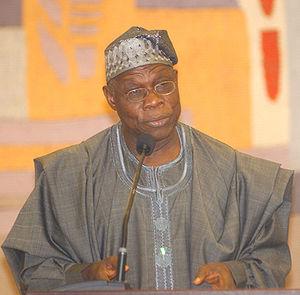 Olusegun Obasanjo, president of Nigeria, Brasí...
