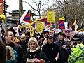 Olympic Torch Relay London 2008 protestors.jpg