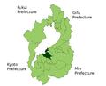 Omihachiman in Shiga Prefecture.png