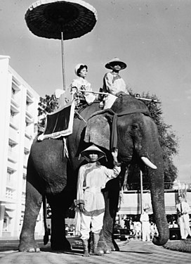 On a sunny day in Saigon, national heroines of Viet Nam are honored with a parade of elephants and floats.jpg