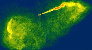 Astrophysical jet - Image: Onde radio M87