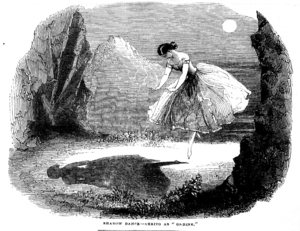 Undine (novella) - Fanny Cerrito dances the Pas de l'ombre in the original production of Ondine, London, 1843