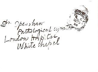 Thomas Horrocks Openshaw - Envelope containing the 'Openshaw Letter'