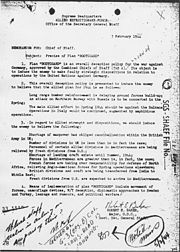 Operation Bodyguard Memorandum