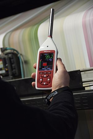 Sound level meter - An integrating-averaging Cirrus Optimus which complies with IEC 61672-1:2002