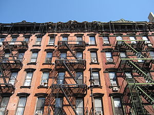 Orchard Street (Manhattan) - Close-up of tenement houses on Orchard
