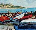Oreste Carpi, Barche a San Terenzo.jpg