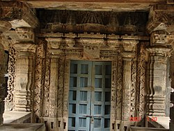 Ornate porch entrance in Nagaresvara Temple at Bankapura.jpg