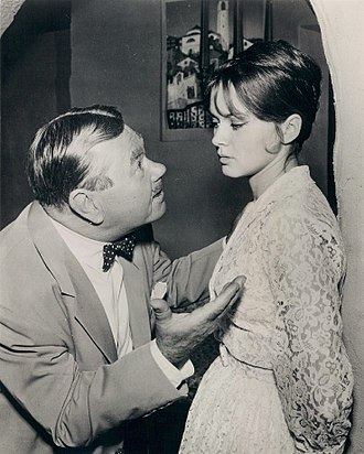 "Danielle De Metz - Oskar Homolka and Danielle De Metz in ""The Ikon of Elijah"", an episode of Alfred Hitchcock Presents (1960)"