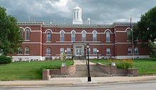 Otoe County, Nebraska courthouse from N 2.JPG
