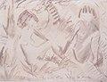 Otto Mueller - Zwei sitzende Mädchenakte im Freien - 1923.jpeg