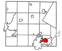 Location of Little Chute, Wisconsin in Outagamie County