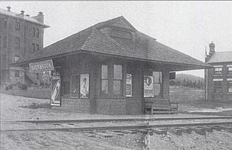 Essex County Hospital Center - Hospital is partly visible to the left of Overbrook Station