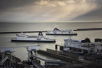 P&O Ferries - Pride of Burgundy and Pride of Kent in Dover Harbour.