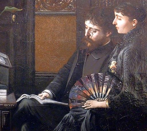 P1160537 Carnavalet Montegut Alphonse Daudet et sa femme Julie rwk