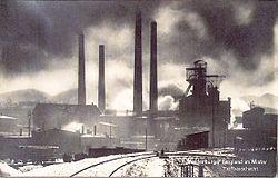 """Kopalnia """"Boles�aw Chrobry"""" widok z 1926 roku."""