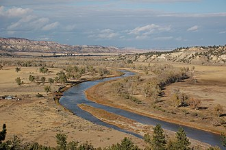 Powder River Expedition (1865) - The Powder River in southeastern Montana where Cole's and Walker's columns passed in 1865.