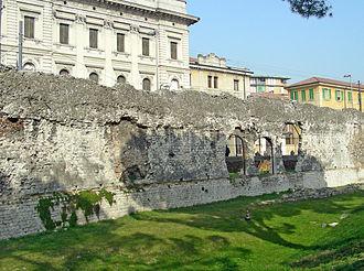 Padua - Remnants of Padua's Roman amphitheatre wall