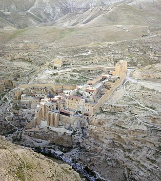 Mar Saba - Mar Saba seen from the air.