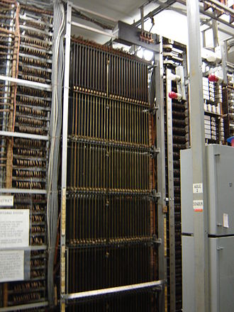 Panel switch - Panel switch district selector frame at the Museum of Communications in Seattle